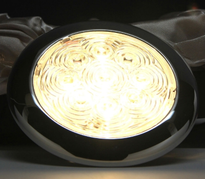 Светильник каютный, нержавейка LED Samsung, D94 мм
