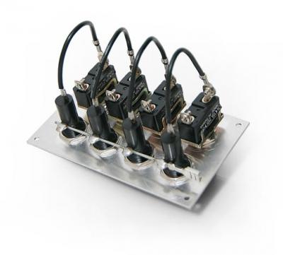 Панель бортового питания 4 тумблера, алюминий