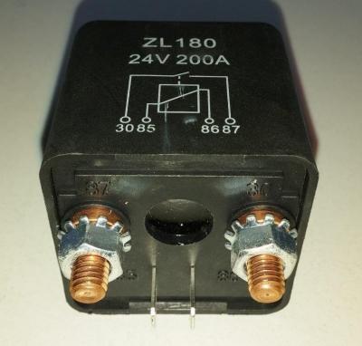 Реле (соленоид) 24В 200А ZL180 24V 200A