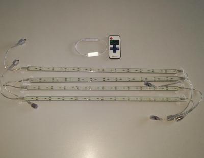 Интерьерная подсветка 4х53см тёплый белый 5630 с ДУ 12в IP65