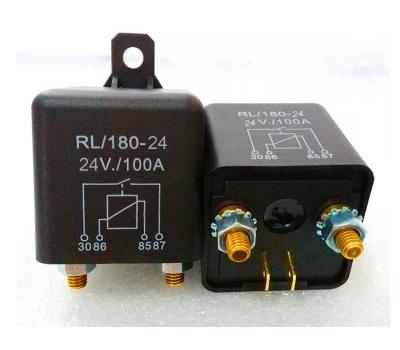 Реле (соленоид) 24В 100А RL180 24V 100A