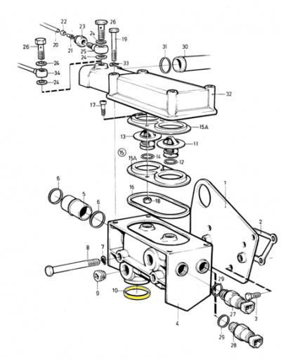 Уплотнение нижней трубки корпуса термостатов AD 31 41