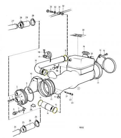 Уплотнение кольцевое трубок тосольной магистрали AD31/AD41