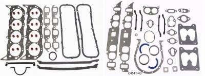 Прокладки, комплект, Mercruiser 7,4 V8 до 92г. овальный впуск