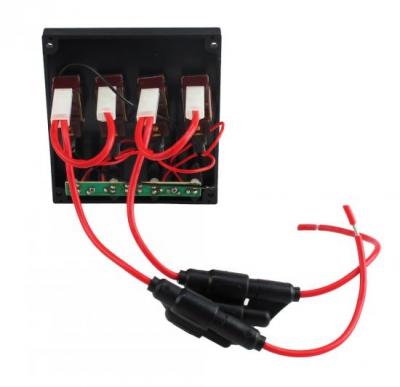 Панель бортового питания LED индикация, 4 тумблера