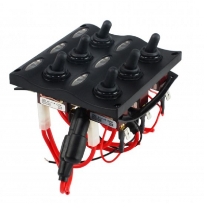 Панель бортового питания LED индикация, 6 тумблеров