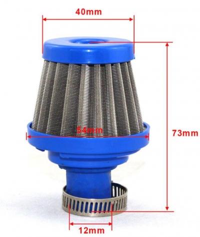 Фильтр воздушный нулевого сопротивления (посадка 12мм)