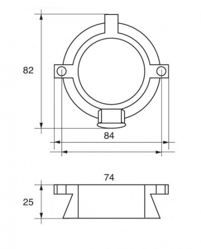 Анод цинковый кольцевой MerCruiser Alpha