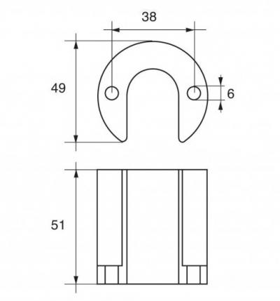 Анод цинковый гидроциллиндра MerCruiser Bravo