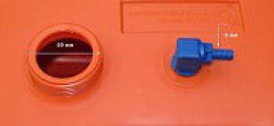 """Бак топливный переносной без указателя уровня в комплекте с переходником """"елочка"""", 24 л"""