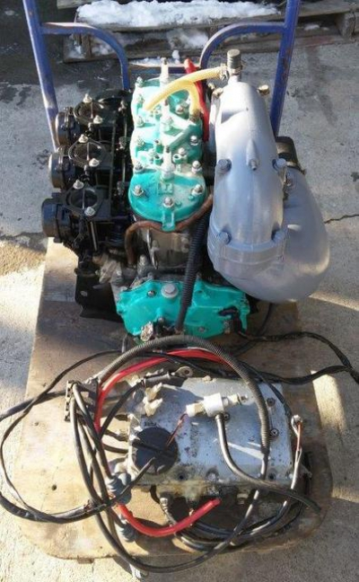 Kawasaki STX900 двигатель с мозгами водника