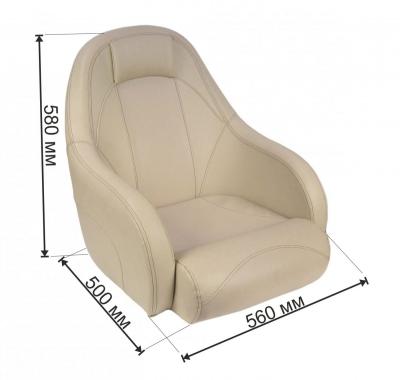 Кресло OCEAN 51 мягкое, подставка (бежевое)