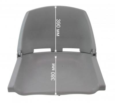 Кресло пластиковое серое