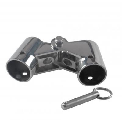Кронштейн складной с фиксацией нержавеющий д. 25 мм