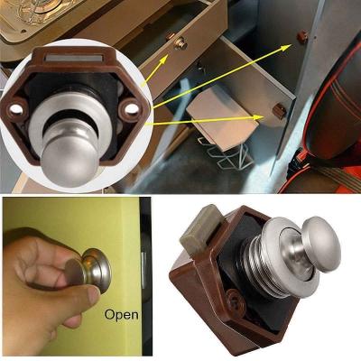 Механизм запирания двери, защелка пластиковая малая 20х48х34мм