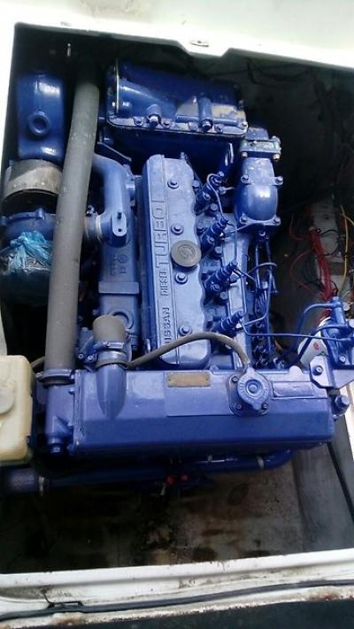 Nissan PF710S катер с экономичным дизелем