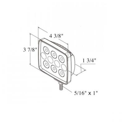 Прожектор светодиодный 10 LED, 1050 лм
