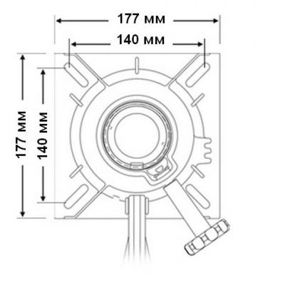Стойка 762 мм под сидение в к-те с основанием стойки