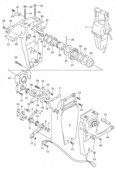 Дистанционное управление Suzuki DF40-250, для двух моторов