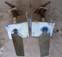 Рулевая группа для вального катера (пара рулей)