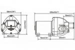 Помпа водоподающая мембранная SeaFlo, 12 В, 11 л/мин, 4.2 бар, 5 А