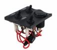 Панель бортового питания с разъемом прикуривателя и LED индикацией, 3 тумблера