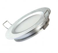 Интерьерная подсветка шайба врезная 70х13мм тёплый белый 2835 12в 3Вт алюминий