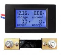 Амперметр / вольтметр постоянного тока 100 А 6.5-100 В с шунтом 100А/75мВ