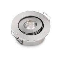 Интерьерная подсветка врезная поворотная 52х25мм тёплый белый COB 12в 3Вт алюминий