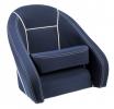 Кресло ROMEO мягкое, подставка, обивка темно-синяя, ткань Markilux
