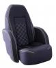 Кресло ROYALITA мягкое, подставка, обивка темно-синяя,ткань Markilux