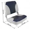 Кресло XXL складное мягкое двухцветное серый/синий