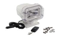 Прожектор галогеновый, стационарный, белый корпус, дистанционное управление, исполнение IP66, 12 В