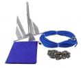 Якорь Дэнфорта 2.7 кг с цепью 1,2 м и веревкой 30 м в сумке