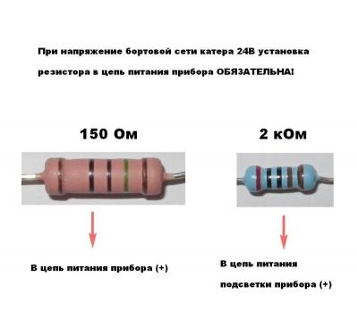 Трим-указатель 0-190 Ом, д. 52 мм