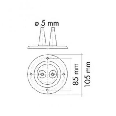 Уплотнитель для 2-х тросов управления белый, д. 105 мм