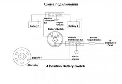 Выключатель массы 4 положения 310А 12-36 В